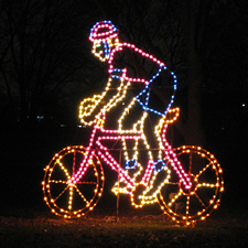 holiday light cyclist